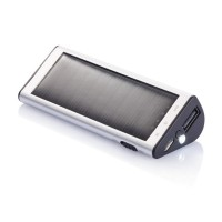 2.200 mAh powerbank solcell, silver