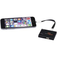 USB Hub & 3-in-1 Cables-BK